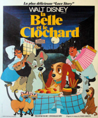 La Belle et le Clochard Lady and the Tramp Disney 1955 affiche poster