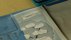 3x11 devoir classe Henry Mills cahier arbre généalogique famille