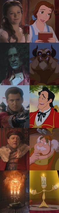 Personnages La Belle et la Bête (Disney) Once Upon a Time Rumplestiltskin Prince Sir Gaston Seigneur Maurice Lumière