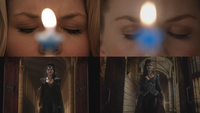 1x01 6x10 parallèles juxtaposition référence bougie anniversaire Emma Swan Méchante Reine Regina Mills Uchronie
