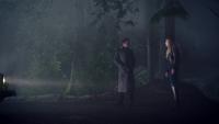 1x17 forêt Emma Swan Jefferson présentations voiture jaune coccinelle nuit recherche chien