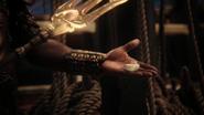 4x15 Poséidon coquillage magique trident enchantement main cordes