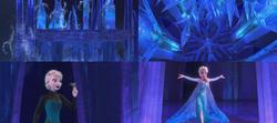 La Reine des Neiges (Disney) Elsa magie cryokinésie couronne Palais de glace Libérée Délivrée Let It Go