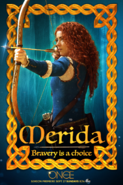 Once Upon a Time season 5 Merida Bravery is a choice poster