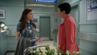 6x06 Belle French Mary Margaret Blanchard hôpital discussion échographie craintes M. Gold enfant