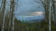 6x18 Oz ciel Palais Emraude forêt