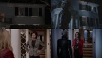 5x05 1x01 références similitudes Regina Mills Emma Swan Henry Mills maison pas de porte porche fenêtre attrape-rêves