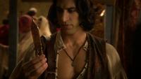 6x05 Aladdin marché ciseaux des moires regard cadeau Jafar