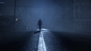 6x11 Emma Swan épée rue centrale Storybrooke nuit