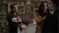 5x10 Robin (Storybrooke) Regina Mills Zelena (Storybrooke) bébé Robin tentions rencontre mère thérapie de couple énervement retenir utilisation magie