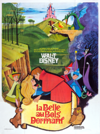 La Belle au Bois Dormant Sleeping Beauty Disney 1959 affiche poster