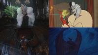 4x12 anecdotes références à Disney Les 101 Dalmatiens Cruella d'Enfer pouvoir fumée verte don de persuasion Chernabog Fantasia Nuit sur le Mont Chauve