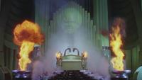 Le Magicien d'Oz (film) 1939 Grand Oz flammes Palais d'Émeraude