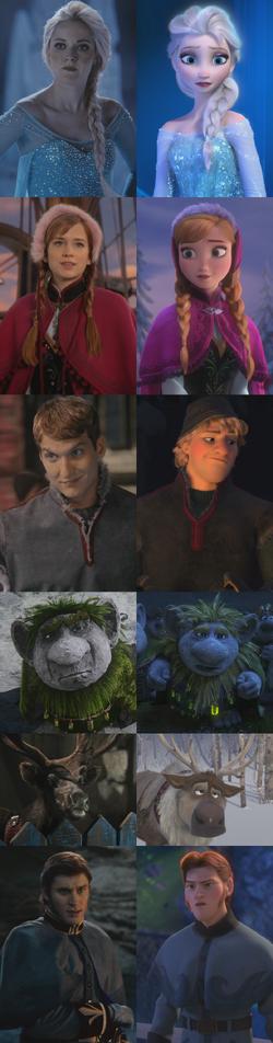 Personnages La Reine des Neiges (Disney) Once Upon a Time Elsa Anna Kristoff Grand Pabbie Sven Hans