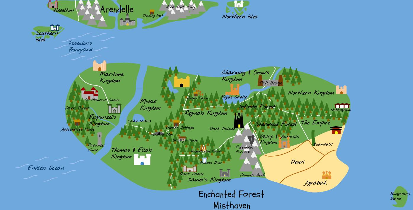 Storybrooke Map Maps T Ouat And Movie