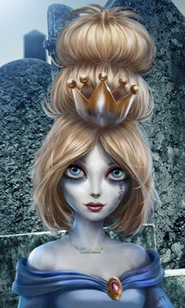 New zombie cinderella closeup