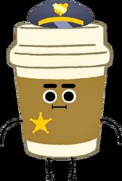 Policial Copo de Café