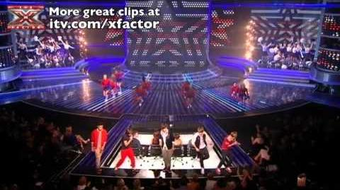 One Direction sing Kids in America - The X Factor Live show 5 - itv