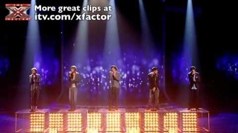 One Direction sing The Way You Look Tonight - The X Factor Live show 6 - itv