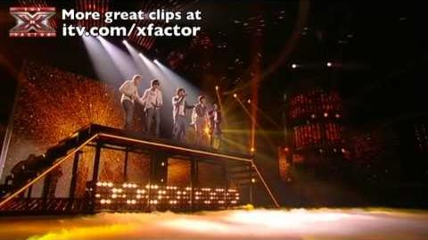 One Direction sing Torn - The X Factor Live Final - itv