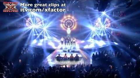 One Direction sing Chasing Cars - The X Factor Live Semi-Final - itv