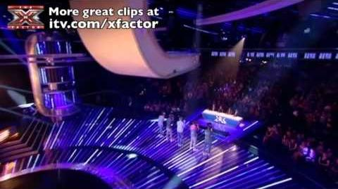 One Direction sing Nobody Knows - The X Factor Live show 3 - itv