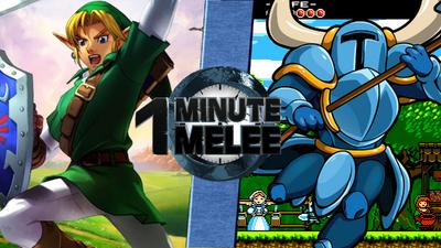 Link VS Shovel Knight Remastered