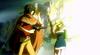 Goro and his wife seing Riko fighting