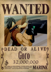 Goro Wanted Poster