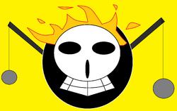 Bandera Piratas Flama Doradaa
