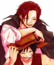 Luffy y Shanks