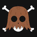 Piratas Head with Hair portrait