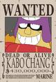 Kabo Chang recompensa