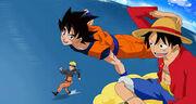 Crossover One Piece x Naruto x Dragon Ball Z