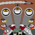 Escuadrón de fuegos artificiales portrait