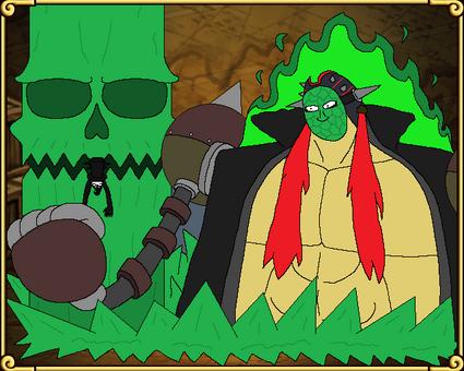 Cara de Jade Capitan de la Espalda de Fuego OPFTC