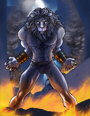 Bastet lion form