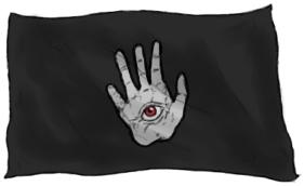 Bandera Ojo en la mano