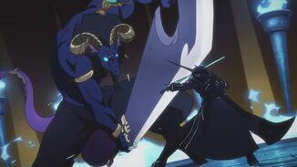Kirito contra el jefe