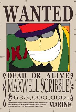 Maxwell Scribble recompensa