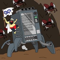 Akayama y su máquina expendedora movil