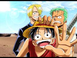 Luffy, Zoro y Sanji