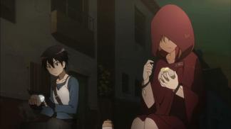 Kirito y Asuna (vero ) comen