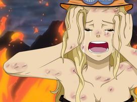 Nanami llorando la muerte de Ace