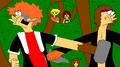Hic VS Venjen peleando por una chica regalo de Crea para Troy