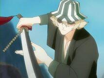 Urahara con su espada