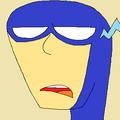 Blue portrait