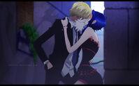 Sanji y shan disimulando -3