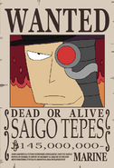 Saigo Tepes recompensa