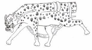 Barkie forma hiena